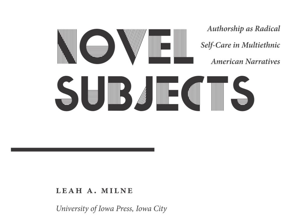 Novel Subjects title page